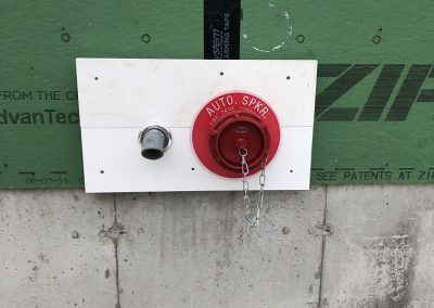 Main drain and fire dept connection ... check!