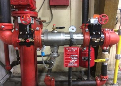 anti-freeze loop with RPZ backflow preventer