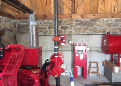 diesel fire pump, controller, fuel tank