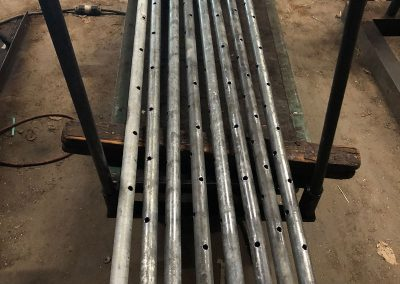 Pipe fabrication - galvanized spray bars for crusher plant