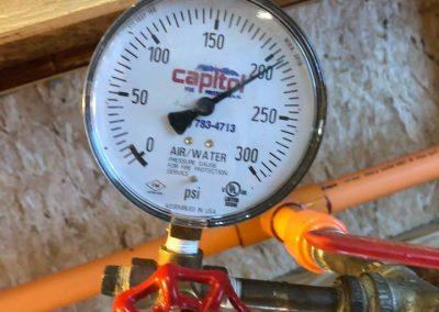 sprinkler system at test pressure